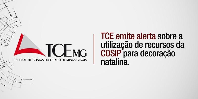 TCE emite alerta sobre a utilização de recursos da COSIP (Contribuição de Custeio de Iluminação Pública) para decoração natalina.