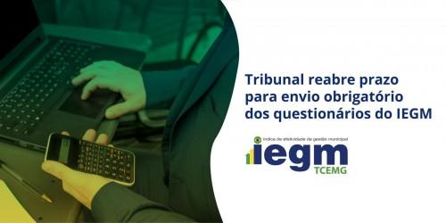 Tribunal reabre prazo para envio obrigatório dos questionários do IEGM