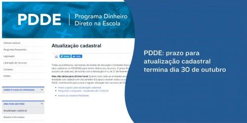 PDE: prazo para atualização cadastral termina dia 30 de outubro