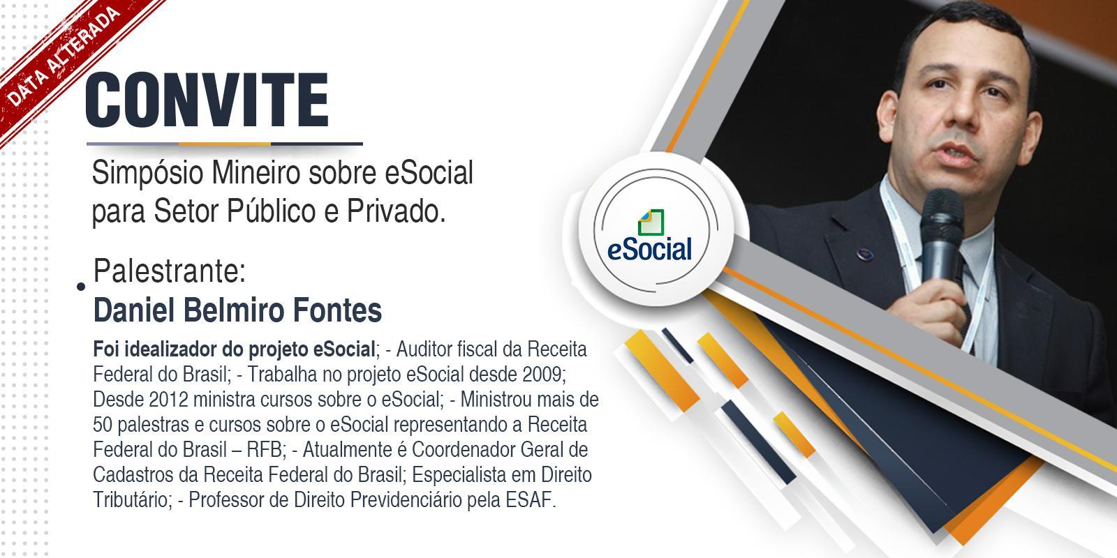 Alteração na data do Simpósio mineiro sobre o eSocial para o setor público e privado