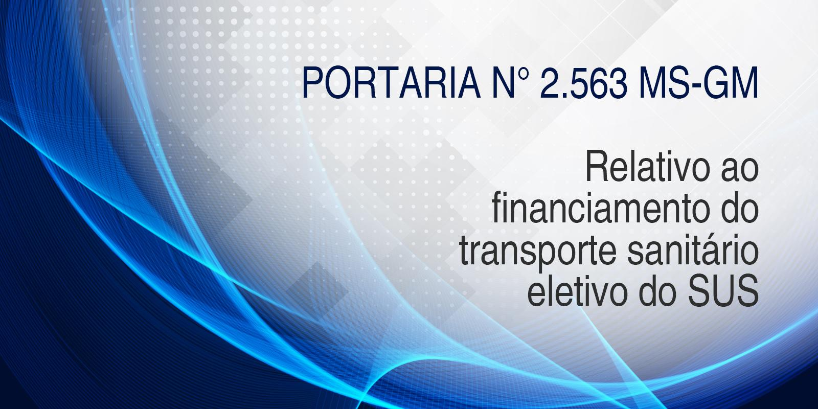 Brasil SUS divulga portaria sobre o financiamento de transporte sanitário eletivo do SUS