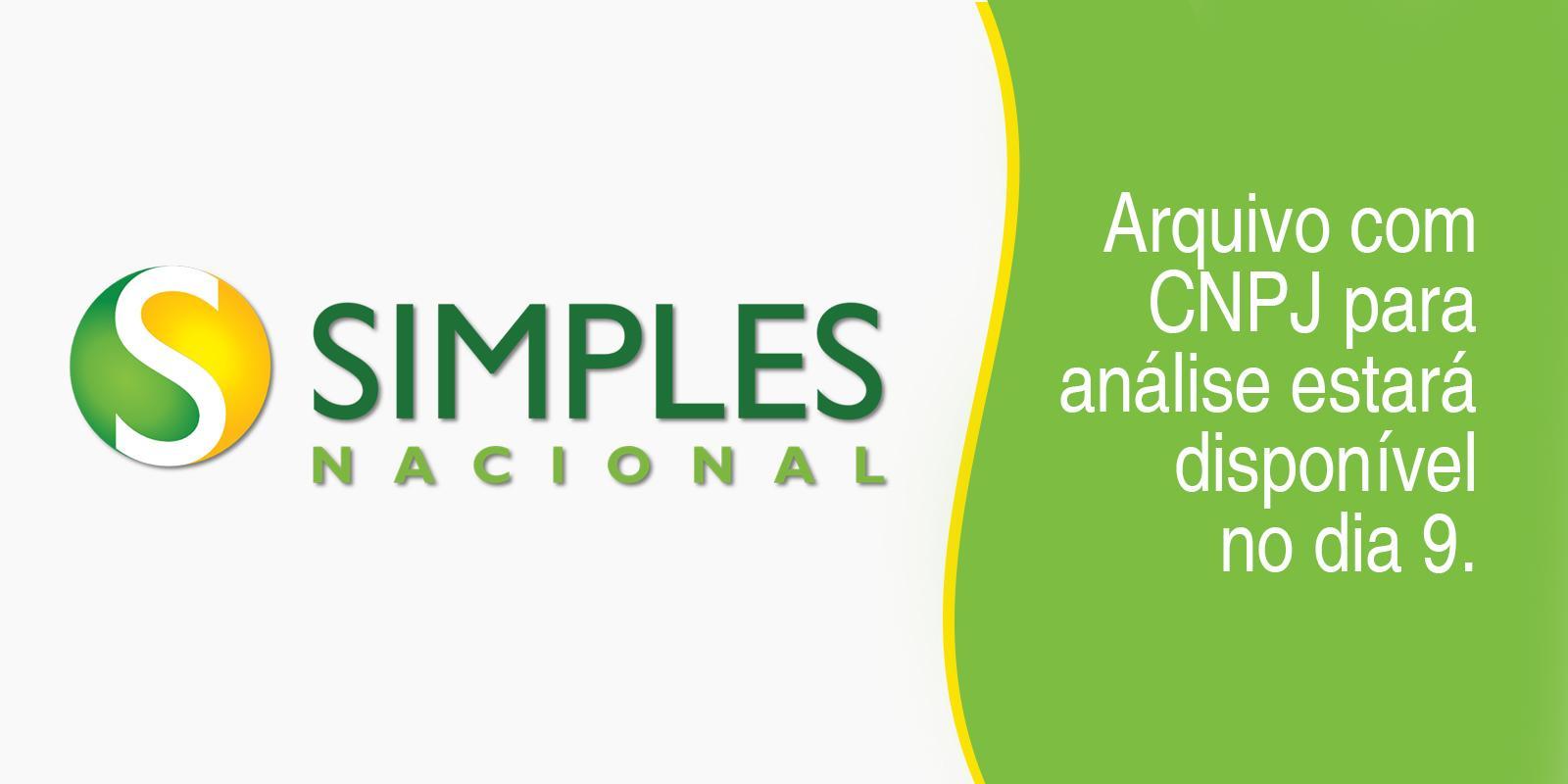 Simples Nacional: arquivo com CNPJ para análise estará disponível dia 9