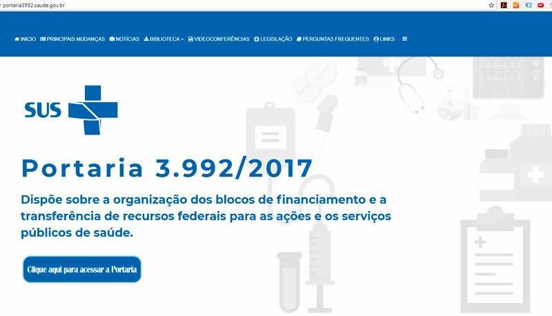 Portal AMM informa: FNS e CONASEMS lançam hotsite da Portaria N° 3.992/2017