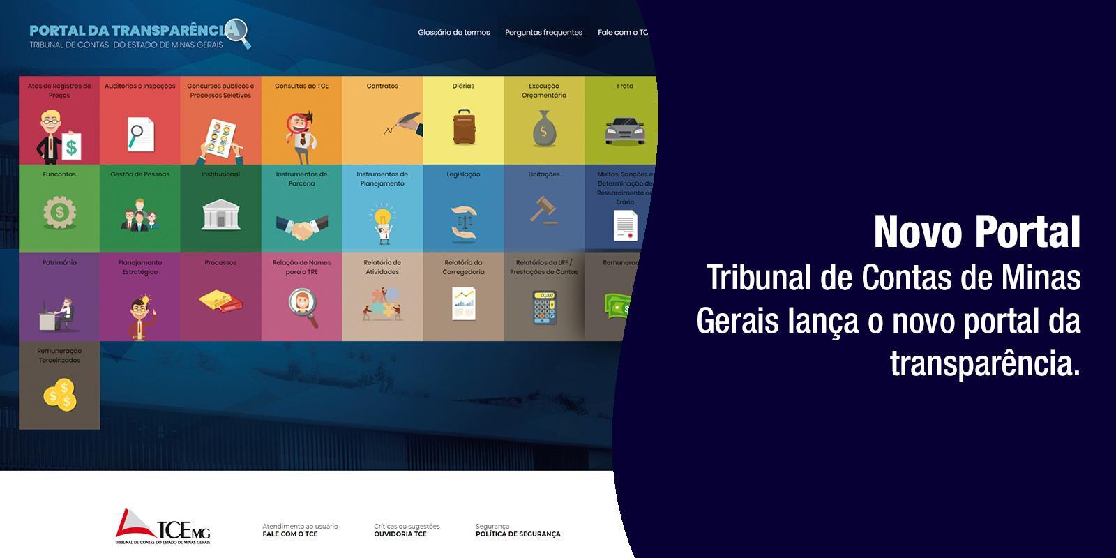 Tribunal de Contas Disponibiliza Novo Porta de Transparência