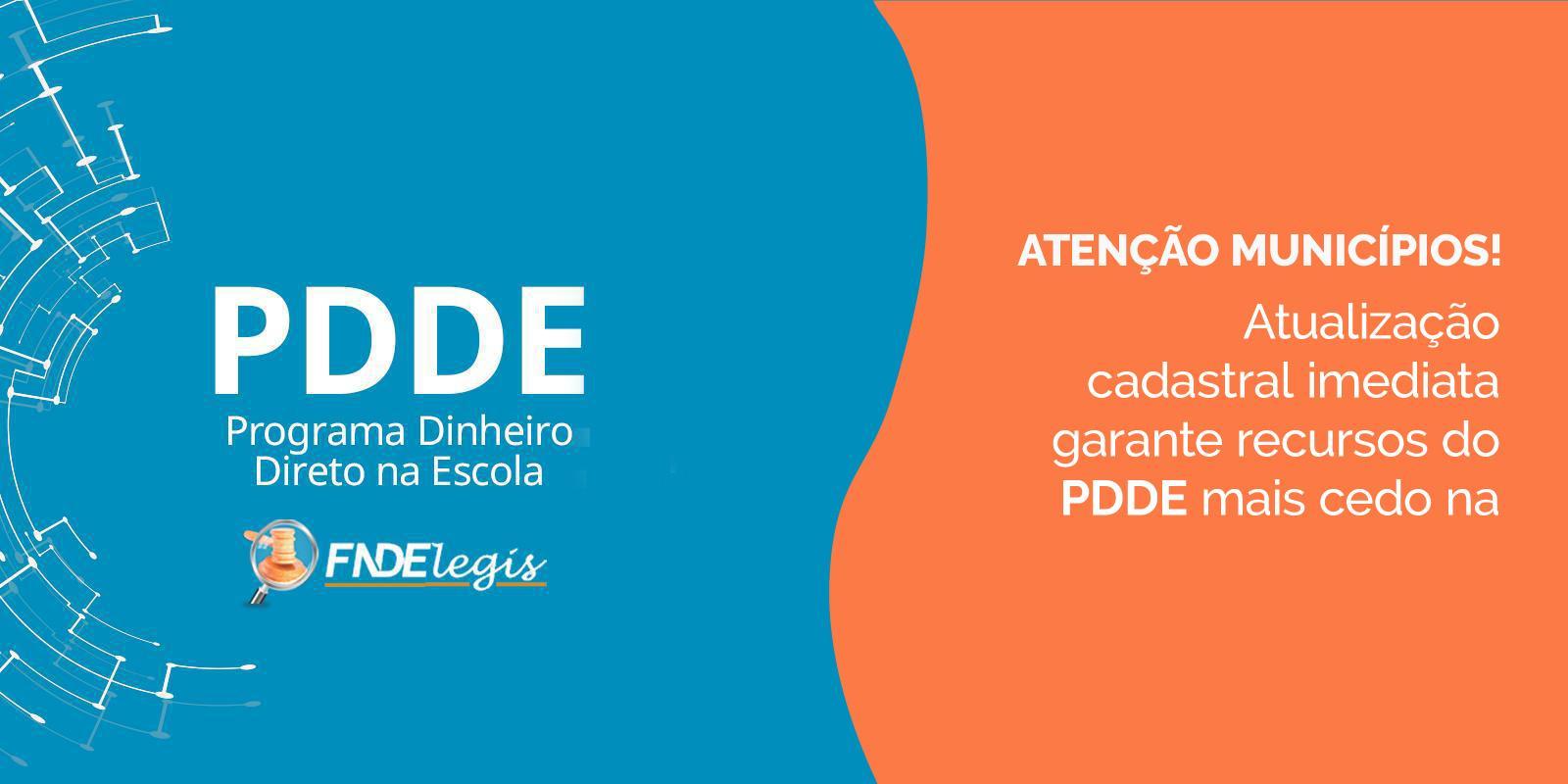 Atualização cadastral imediata garante recursos do PDDE mais cedo na conta