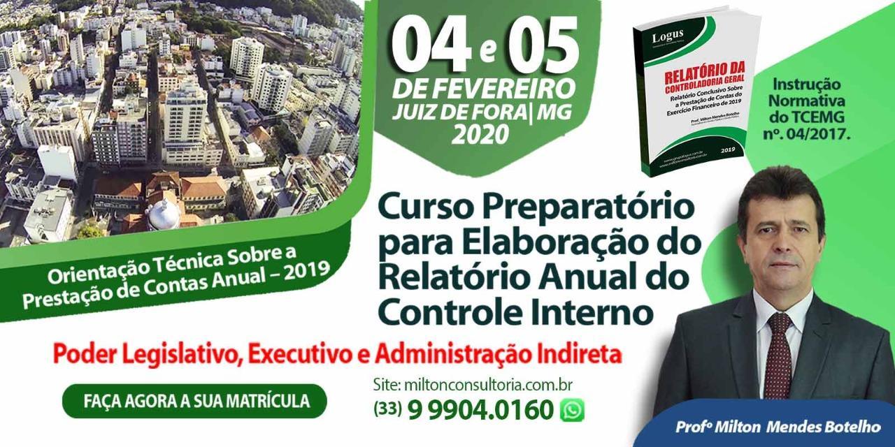 Curso Preparatório para Elaboração do Relatório Anual do Controle Interno